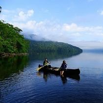 十和田湖を眺めながら大自然を満喫