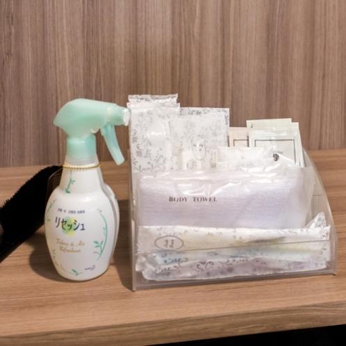 アメニティ(歯ブラシ / ボディータオルなど) / リセッシュはお部屋にご用意がございます