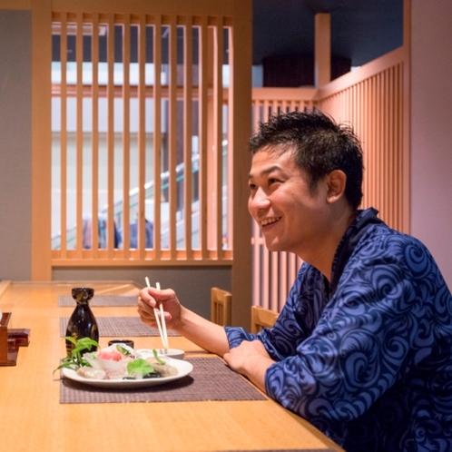 一人でも気軽に入れるカウンター席をご用意。ちゃんと美味しい和食が食べたい人におすすめ