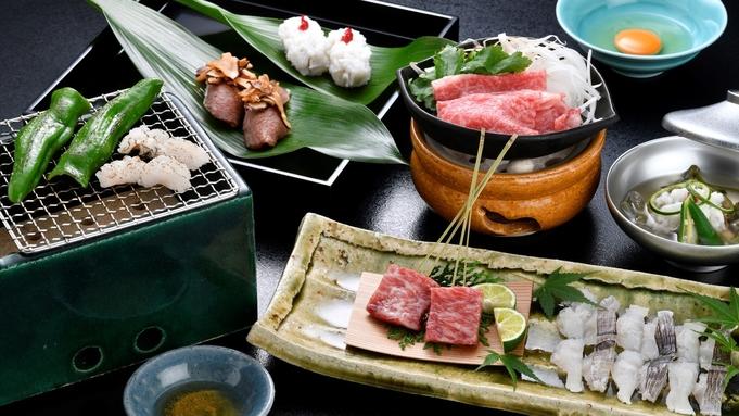 夏〜秋の特別料理、毎年人気の贅沢な会席!『丹波牛と鱧のお料理』