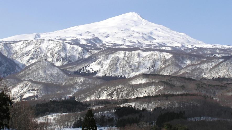 【冬】ふるさと農道橋からの鳥海山