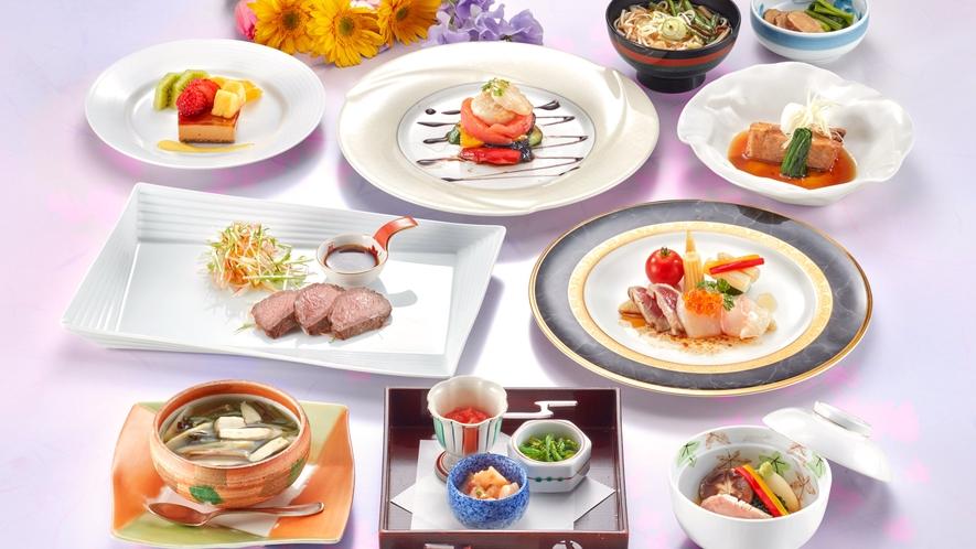 【和会席】盛り付けにもこだわったお食事の数々…ぜひこの機会にご賞味下さい。