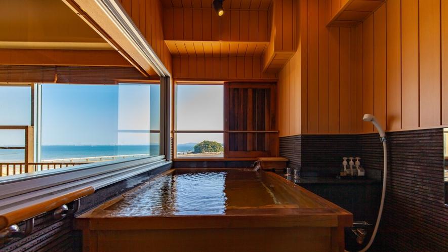 ~8階露天風呂付き客室 檜風呂~