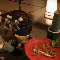 竹酒と骨酒。身体にしみわたります