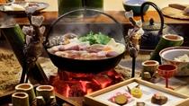 人気の味噌仕立ての猪鍋