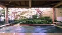 ひのき風呂に併設の露天風呂(昼)