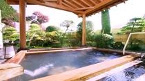 岩風呂に併設の露天風呂(昼)