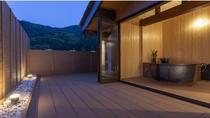 本館客室【蘭】<半露天風呂付和洋室>