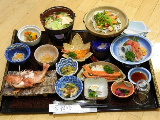 【夕朝食付グレードアッププラン】会場食 和食御膳&牛バラ焼きと季節の海鮮鍋