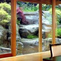 特別室の庭園の眺め
