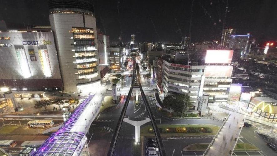 【客室からの夜景】