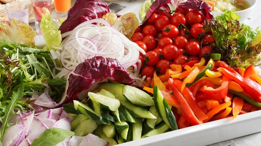 【レストラン「カシュカシュ」の朝食】野菜をたっぷりご用意