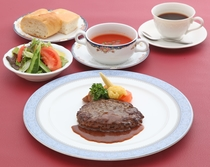 【選べる5種類のご夕食】近江牛ハンバーグ