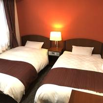 ≪城側ツイン≫お部屋から彦根城がご覧いただけます