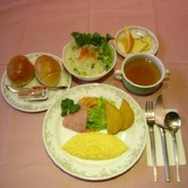 朝食例(洋定食)